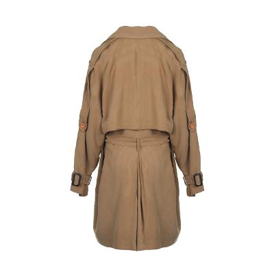cape detail wrap trench coat